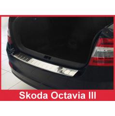 Nerez kryt- ochrana prahu zadného nárazníka Škoda Octavia III 2013-16