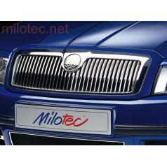 Lišty prednej masky - nerez, Škoda Superb