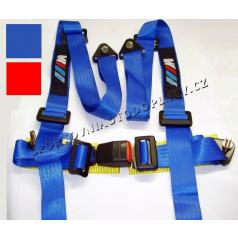 4 -bodové racing bezpečnostné pásy BMW radu M modré