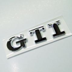 Znak GTI samolepiaci pre koncernové vozidlá VW čierny