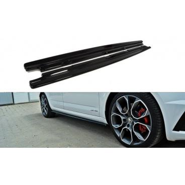 Difúzory pod bočné prahy pre Škoda Octavia RS Facelift Mk3, Maxton Design (Carbon-Look)