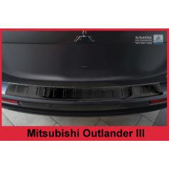 Nerez kryt- černá ochrana prahu zadního nárazníku Mitsubishi Outlander III 2012-15