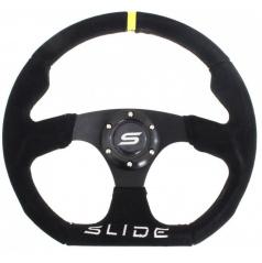 Športový volant SLIDE čierny semišový 350 mm