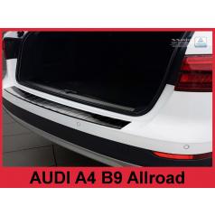 Nerez kryt- čierna ochrana prahu zadného nárazníka Audi A4 B9 Allr. 2016+