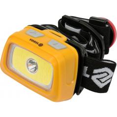 Svítilna LED XPE CREE 3W + COB LED 3W čelová