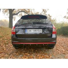 Vložka zadného nárazníka Ver.1 pre Škoda Octavia RS Mk3, Maxton Design (čierny lesklý plast ABS)