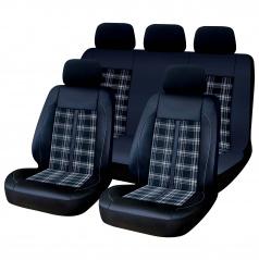 Luxusné univerzálny autopoťahy GTI STYLE čierne 9 ks