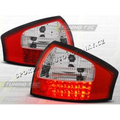 AUDI A6 (C5) SEDAN 1997-04 zadné LED lampy RED WHITE (LDAU13)