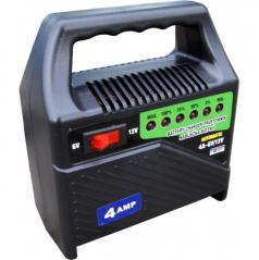 Nabíjačka autobatérií-6-12V 4A-led indikácia-prenosná