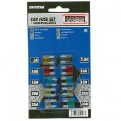 Poistky blister MINI 10ks (1x5A, 1x7, 5A, 2x10A, 2x15A, 2x20A, 1x25A, 1x30A)