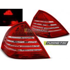Mercedes C-Klasa W203 Sedan 2000-04 zadní lampy red white LED (LDME59)