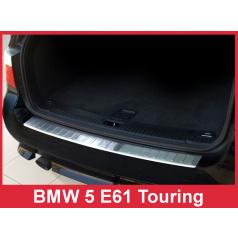 Nerez kryt- ochrana prahu zadného nárazníka BMW 5 E61 2007-10