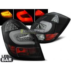 Škoda Fabia 2 2007-06.14 zadné lampy black LED bar (LDSK09)