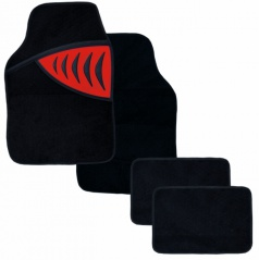 Autokoberce textilné-Shark-univerzálne červené
