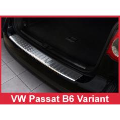 Nerez kryt ochrana prahu zadného nárazníka Volkswagen Passat B6 Variant 2005-10
