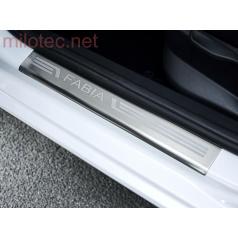 Ochranné kryty prahov s výstupkami, nerez, Škoda Fabia II