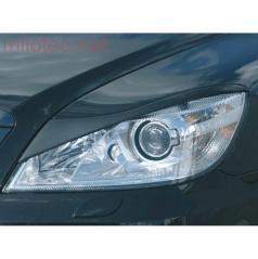 Kryty svetlometov Milotec Bad look (mračítka) - ABS čierny, Škoda Octavia II Facelift