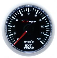 Prídavný budík Depo Racing výfukové plyny 52 mm