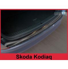 Nerez kryt- čierna ochrana prahu zadného nárazníka Škoda Kodiaq 2016+