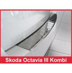 Nerez kryt- ochrana prahu zadného nárazníka Škoda Octavia III kombi 2013-16
