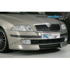 Škoda Octavia II Predný spoiler - pre lak, stredný diel čierný dezén