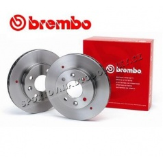 BREMBO HLADKÉ KOTÚČE ZADNÉ AUDI S2 2,2i OV TURBO COUPÉ, AVANT, SEDAN 90-96 (245mm) 2KS