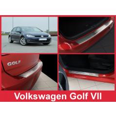 Nerez kryt zostava ochrana prahu zadného nárazníka + ochranné lišty prahu dverí VW Golf VII 2012-16