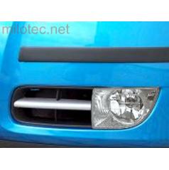 Lišty hmlových svetiel (hranatých) - ABS strieborné matné, Roomster, Fabia II