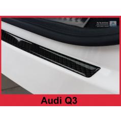 Carbon kryt- ochrana prahu zadného nárazníka Audi Q3 2011+