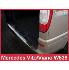 Nerez kryt-ochrana prahu zadního nárazníku Mercedes Vito, Viano W639 2003-14