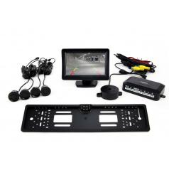 Parkovací systém s TFT 11 cm kamerou + 4 černé senzory