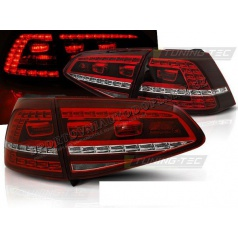 VW Golf 7 2013 zadné lampy red white LED GTI Look (LDVWE8)