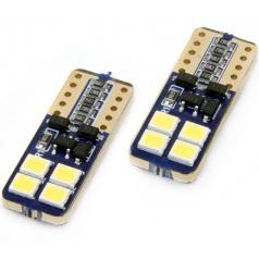 Žiarovky 8 SMD 2835 LED T10 (W5W) 12V biela CAN-BUS krátka