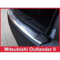 Nerez kryt- ochrana prahu zadního nárazníku Mitsubishi Outlander II 2006-12