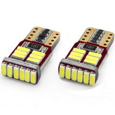 Žárovky parkovací T10 18 SMD LED bílé 6000K  CAN BUS (s odporem) - 2 ks