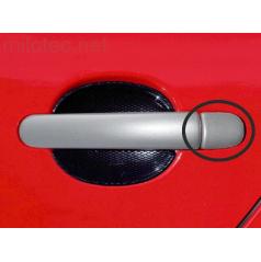 Kryty klik malé, ABS stříbrný matný, 4x bez otvoru pro zámek