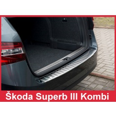 Nerez kryt- ochrana prahu zadného nárazníka Škoda Superb III kombi 2015+