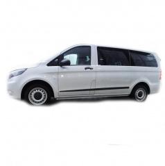 Ochranné bočné lišty na dvere, Mercedes V-Klass W447, 2014+, van, minivan