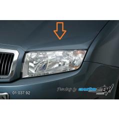 Škoda Fabia kryt veľkých svetiel imitácia - pre lak