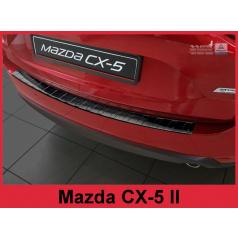 Nerez kryt-černá ochrana prahu zadního nárazníku Mazda CX-5 II 2017