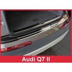 Nerez kryt- ochrana prahu zadného nárazníka Audi Q7 II 2015+