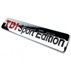 Znak TDI Sport Edition samolepiaci pre koncernové vozidlá Audi, VW, Škoda, Seat