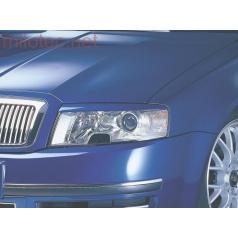 Kryty svetlometov Milotec (mračítka) - ABS čierny, Škoda Superb