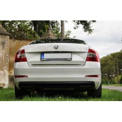 Nerez chróm spodná lišta kufra RS Škoda Octavia III sedan