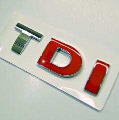 Znak TDI samolepiaci pre koncernové vozidlá Audi, VW, Škoda, Seat