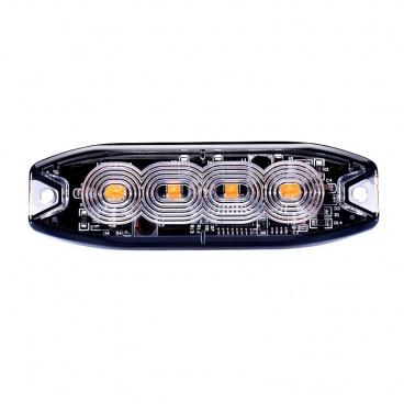 Stroboskopické světlo oranžové 4xLED R65 R10