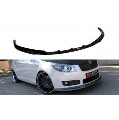 Spoiler pod predný nárazník pre Škoda Fabia Mk2, Maxton Design (čierny lesklý plast ABS)