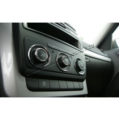 Škoda Octavia II Facelift 09-12 - chróm krúžky ovládačov manuál. kúrenie KI-R