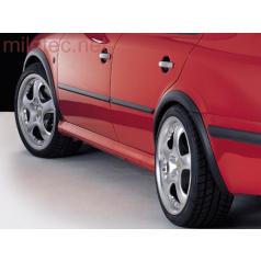 Lemy blatníkov, ABS čierný s rastrom, Škoda Octavia