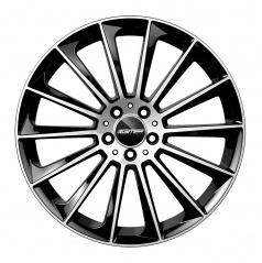 Alu koleso GMP STELLAR black/leštený top 9,0x22 5x130 ET50